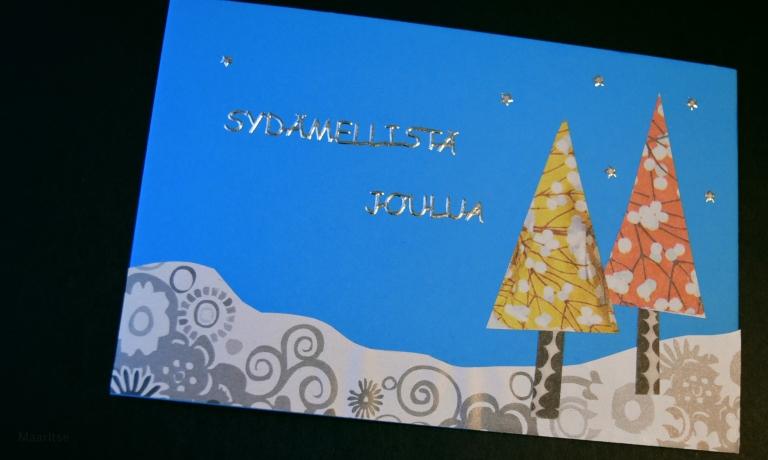 Itse tehdyt joulukortit