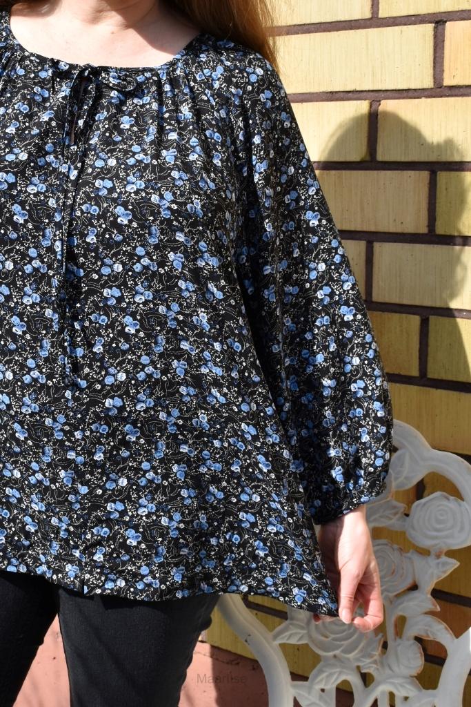 MaarItse-ompelublogi: naisten viskoosipusero